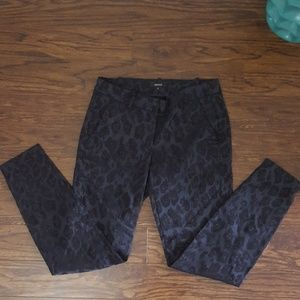 RW&CO | Dark Blue Animal Print Pants